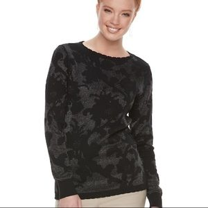 Black Floral Sweater
